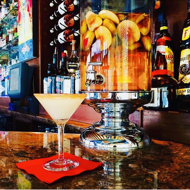 martini at the bar